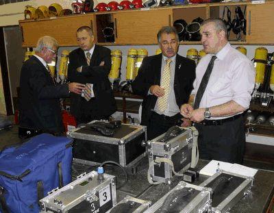 Návštěva německé a rakouské báňské záchranné služby