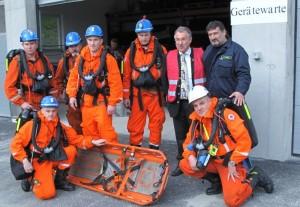 Cvičení rakouských záchranných služeb na wolframovém dole v Mittersillu s mezinárodní účastí