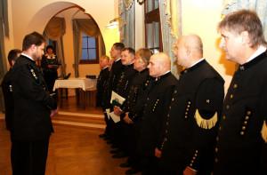 Vyznamenání báňských záchranářů v Mostě