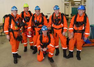 Cvičení báňských záchranných sborů v Jochbergu