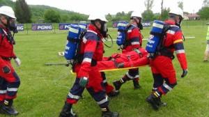 Závody báňských záchranářů v polské Tarnawa Dólna